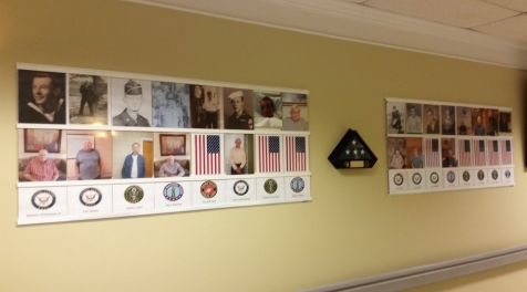 Veterans Wall of Fame Display